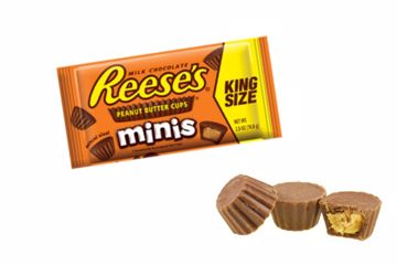 Immagine di USA REESE'S PEANUT BUTTER CUPS MINIS 70GR KING SIZE PZ.16