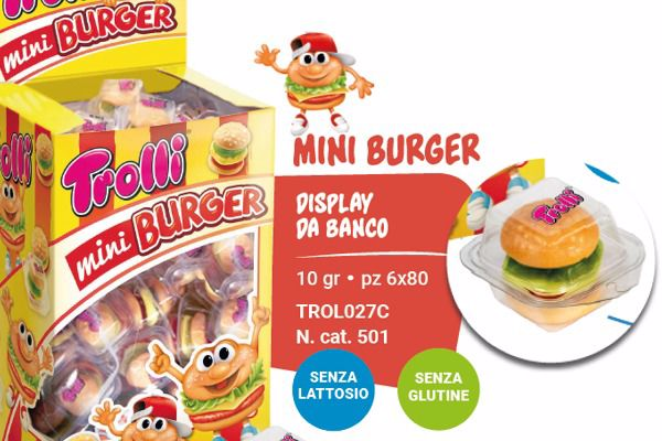 Immagine di CDD TROLLI MINI BURGER S/G DISPLAY PZ80