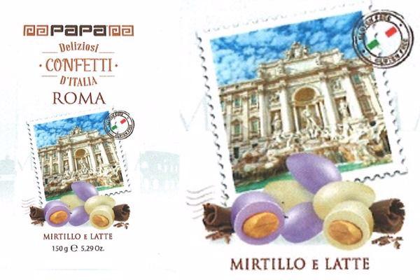 Immagine di DOL CONFETTI D'ITALIA ROMA TREVI (mirtil/latte) S/G GR150