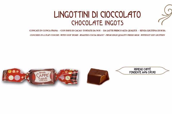 Immagine di LEO LINGOTTI FONDENTI RIPIENI CAFFE ' S/G GR500