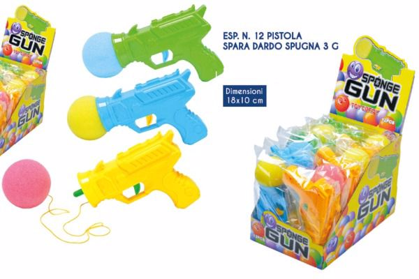 Immagine di ROS PISTOLA SPARA DARDO SPUGNA 3GR X 12