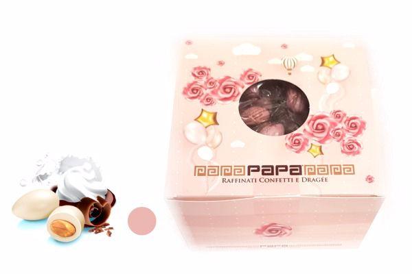 Immagine di PAP BOX DRAGEE CIOCCOLATTE ROSA MONODOSE S/G GR500
