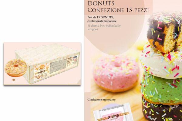 Immagine di PAP DONUTS VANIGLIA INCARTATI SINGOLI S/G PZ15 (in estate, solo vendita al magazzino)